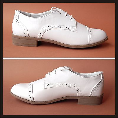 WOMENS 1940s Lindy Hop swing style white shoes SIZE 6 Euro 39 NEW OLD STOCK