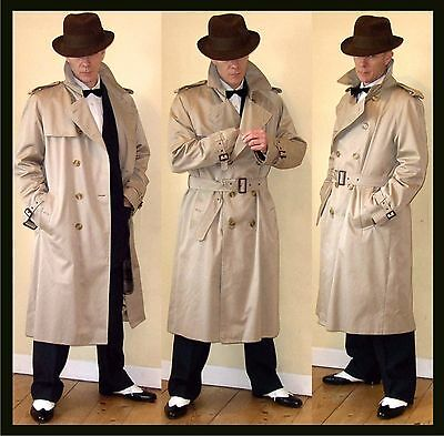Vintage Trenchcoat Mac Raincoat gangster Bogart Swing demob 1940 Lindy Hop style
