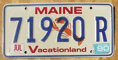 MAINE LOBSTER  license plate  1990  71920 R