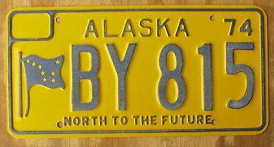 ALASKA - NORTH TO THE FUTURE license plate  1974  BY 815