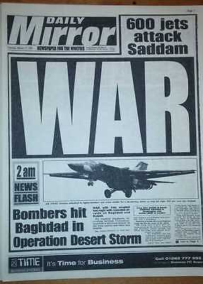 FALL OF BERLIN WALL Gulf War Nelson Mandela Free Old Newspaper German World I II
