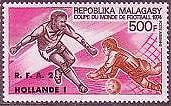 MALAGASY Sc.# C130 Soccer Cup Winner FIFA Airmail Stamp