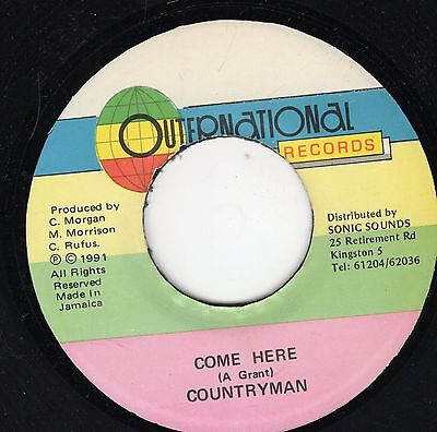 """"""" COME HERE. """" countryman. OUTERNATIONAL RECORDS 7in 1991."""