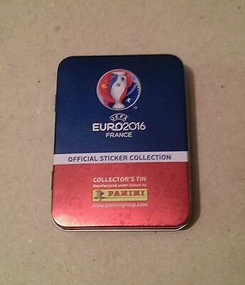 UEFA Euro 2016 France Panini Official Sticker Collectors Tin