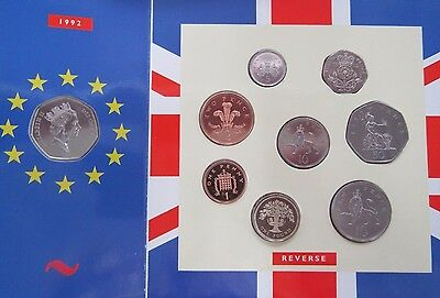 1992 United Kingdom Royal Mint Brilliant Uncirculated Coin Collection