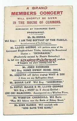 Political Members Concert House of Commons Lloyd George Suffragette Interest