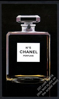1979 Chanel No 5 perfume classic bottle color photo vintage print ad