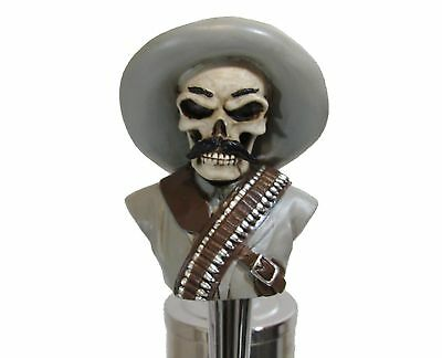 Poncho Villa Sports Bar Beer Tap Handle Kegerator Resin Zombie Breweriana Pancho