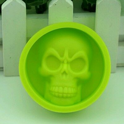 Silicone Skull Green  Mould For  Cakes Sweets Jelly Cake Decoration Ice.. Ect