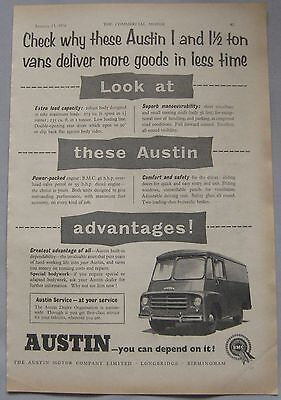 1956 Austin 1 and 1.5 ton vans Original advert