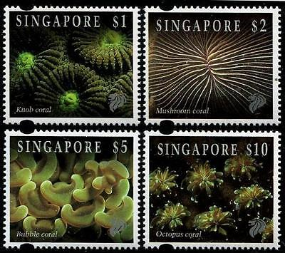 SINGAPORE Sc.# 682-84A Coral High Values Mint NH Stamps
