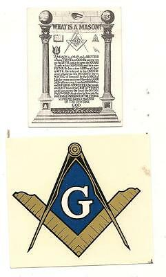 Masons Decal Sticker & What is a Mason