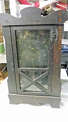Antique Mantle Clock With Key Gingerbread Clock