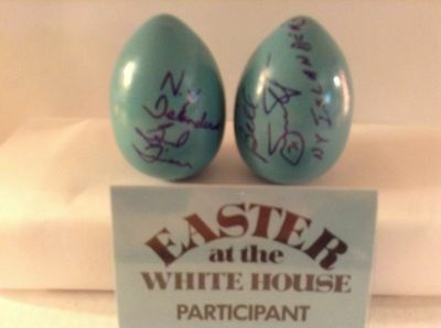 New York, NY 1982-4 New York Islanders,White House Easter Eggs signed Bill Smith