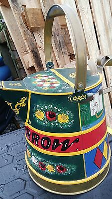 2 Gallon Castle Painted Buckby Narrowboat Watering Can with  brass trim