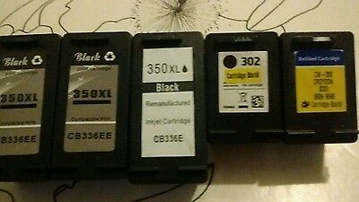 HP  REMANUFACTURED EMPTY INK CARTRIDGES, 350XL, 350 and 302