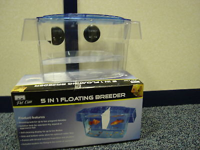 New Breeder/Hatchery PPI 5 Way Breeding Trap For Baby Tropical Fish Tanks P5681 • EUR 6,84