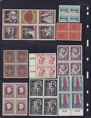 Austria Mint Stamps in blocks of 4 MNH
