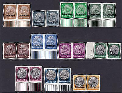 France Occupation Mint Stamps in pairs-Lorraine MNH CV$116
