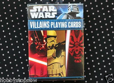 STAR WARS Playing Cards VILLAINS Stormtroopers Darth Vader NEW Sealed HS13