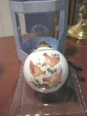 Wedgwood 12 Days Of Christmas Ball Ornament Three French Hens  #3