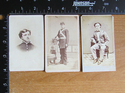 group of soldier cdv photographs