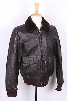 Vtg L.l. Bean Goatskin Leather Flight Bomber Coat Jacket Usa Mens Size 40