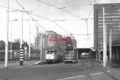 Photo  Netherlands Tram 1986 Htm Den Haag Cs Ll Tram No 1180 On Route 12 And Tra