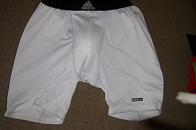 Adult Small - Adidas White Padded Slider Shorts - Nwt Included Cup