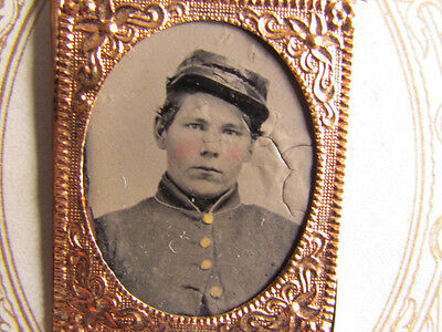 young Civil War soldier tintype photograph