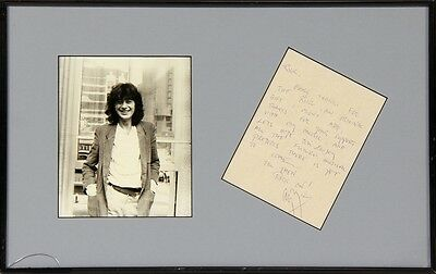 MEGA RARE 1988 Jimmy Page GENUINE Handwritten Letter & Silver Ring! Led Zeppelin