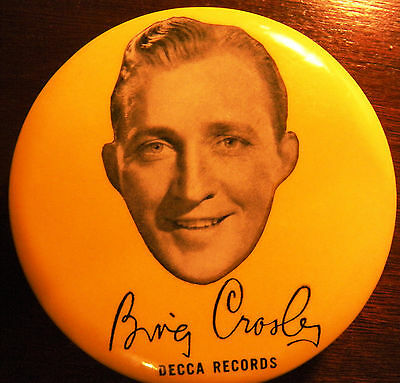 Beautuful Bing Crosby record duster/cleaner brush. made for Decca Records.