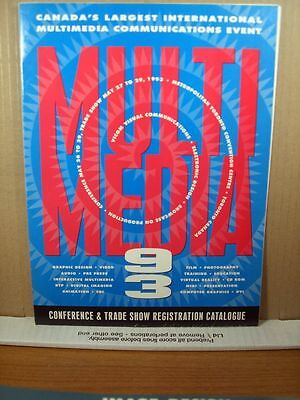 Multimedia 1993, Conference & Trade Show Registration Catalogue