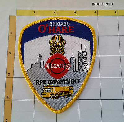 Fire Firefighter USAFR Chicago O'Hare Crash Rescue Dept Patch