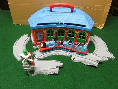 Thomas Train Railroad Station Carry Case with Train Engines