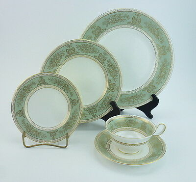 Wedgwood Columbia Sage Green Place Setting Dinner Salad Bread Plate Cup England