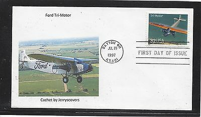 Ford Tri-Motor Fdc 1997 Dayton, Ohio Only One Made Airplane