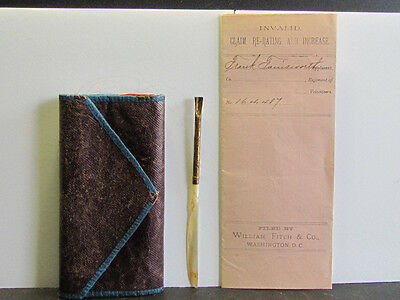 2nd Michigan Infantry soldier backpack sewing kit with girlfriends hair & paper