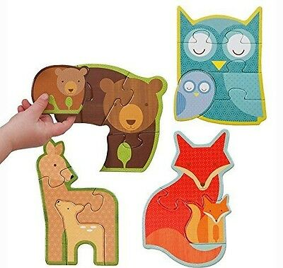 Petit Collage Beginner Jigsaw Floor Puzzle, Forest Babies
