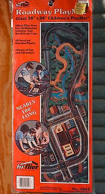 Vintage Roadway Playmat Plastic Children's 30 by 98 Inches Unopened City