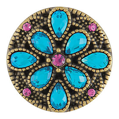 Ginger Snaps LOVELY - AB ZIRCON BLUE SN08-49 FREE $6.95 Snap w Purchase of Any 4