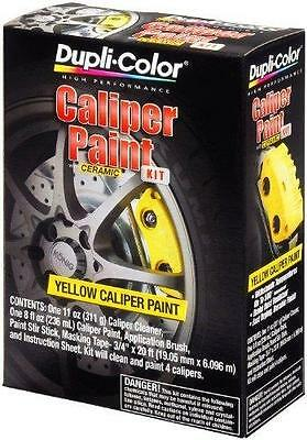 New Dupli-Color Yellow Caliper Paint Kit With Ceramic Cleaner Brush Duplicolor