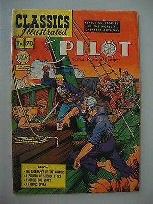 Classic Illustrated #70 G 1st The Pilot