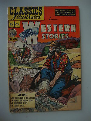 Classic Illustrated #62 FA 1st Bret Hartes Western Stories