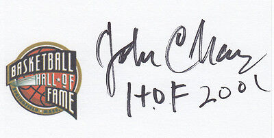 Coach John Chaney Temple University , HOF 2001 SIGNED 3x5 CARD Hall of Fame