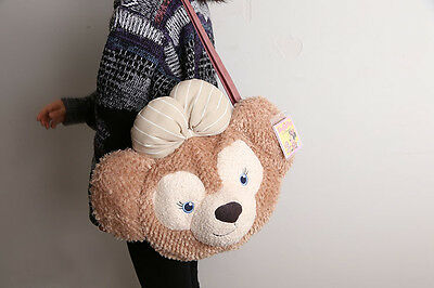 Disney ShellieMay Duffy Bear Face Plush Tote Bag Handbag Shoulder Bag Gift