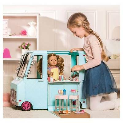 """NEW Blue Ice Cream Truck & Accessories for 18"""" American Girl Doll Our Generation"""