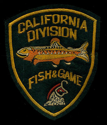 California Fish and Game Division Ranger Police Reproduction Patch S-23
