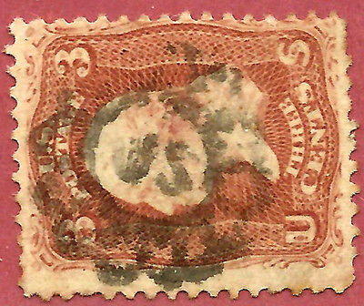 US 1860s Civil War Era Fancy Cancel: Rare Albany Type ~ Skinner-Eno #PT-C 17..5m