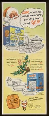 1946 Pyrex glass oven ware dishes Christmas vintage print ad